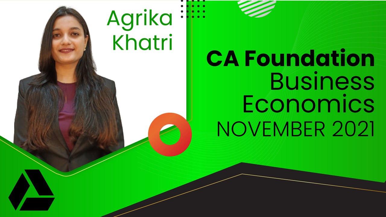 CA Foundation Business Economics Nov 2021 | Google Drive cover
