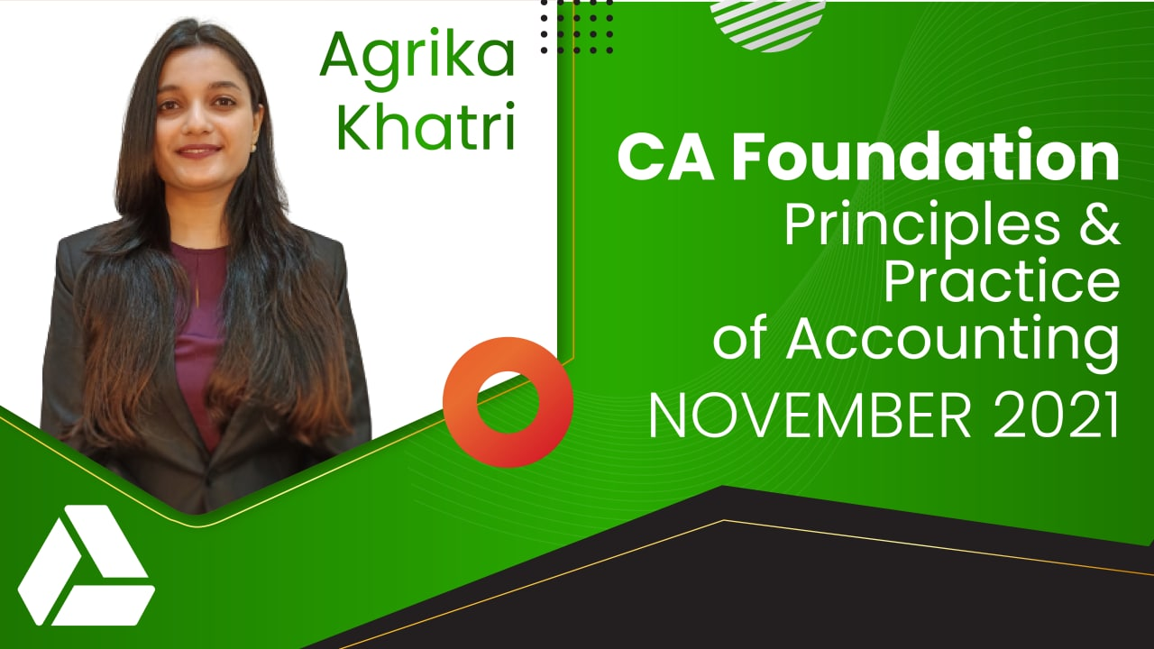 CA Foundation Principles and Practice of Accounting Nov 2021 | Google Drive cover