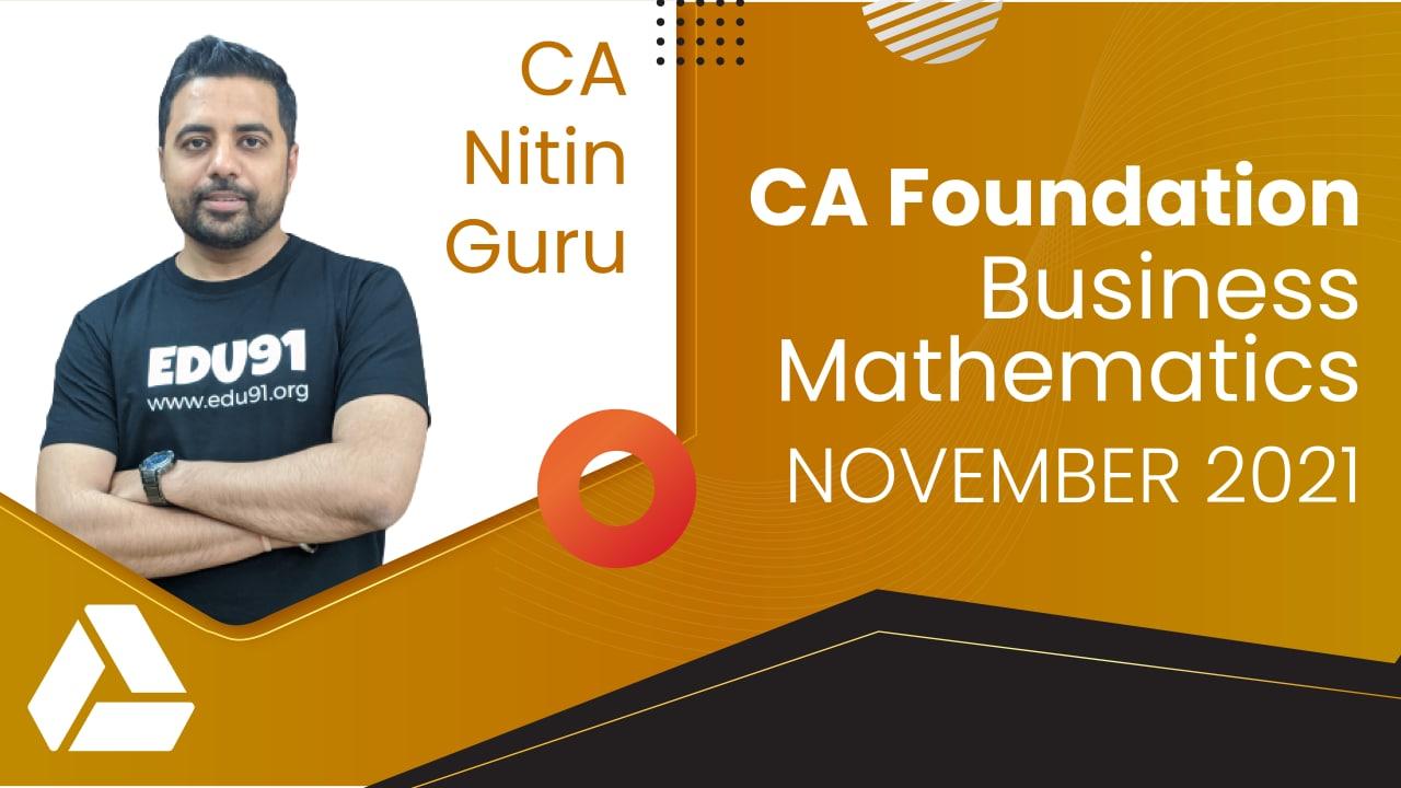 CA Foundation Business Mathematics for Nov 2021 | Google Drive cover