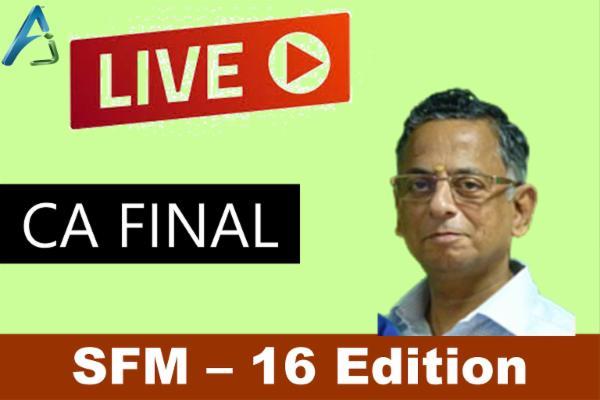 CA FINAL - SFM - 16 Edition - Live cover