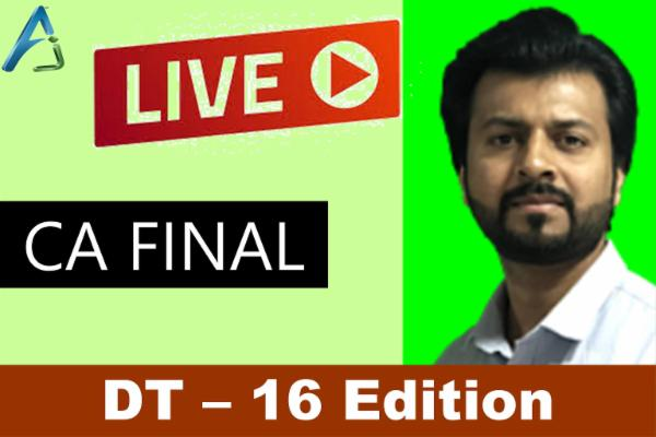 CA FINAL - Direct Tax - May / Nov 22 - LIve cover