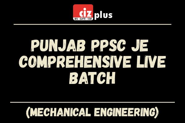 Punjab PPSC JE & SDO (Mechanical) Comprehensive Live Batch cover