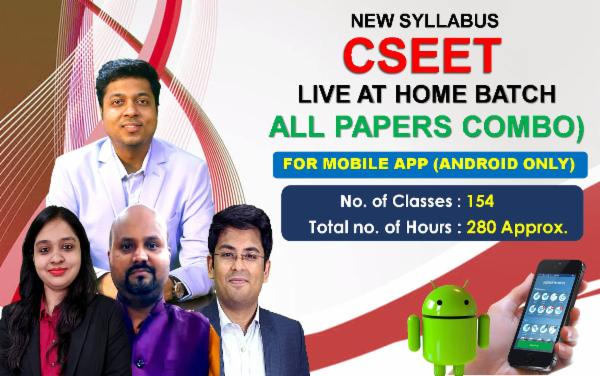 CSEET - LIVE ONLINE (LIVE AT HOME BATCH) FOR MOBILE APP (ANDROID ONLY) cover