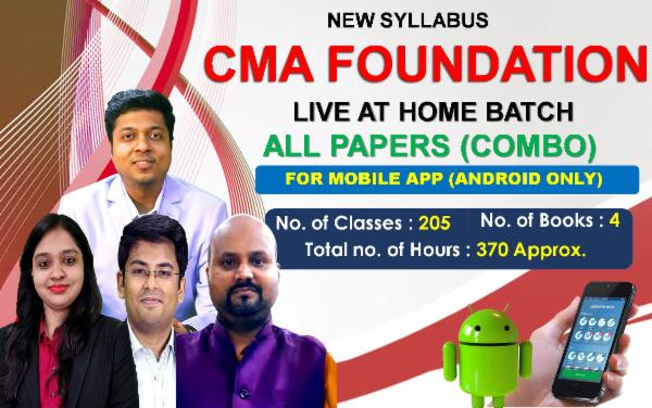 CMA FOUNDATION - LIVE AT HOME BATCH - ALL PAPERS (COMBO) - FOR MOBILE APP (ANDROID ONLY) cover