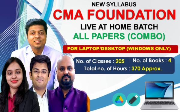 CMA FOUNDATION All PAPERS - LIVE AT HOME BATCH - FOR LAPTOP/DESKTOP (WINDOWS ONLY) cover