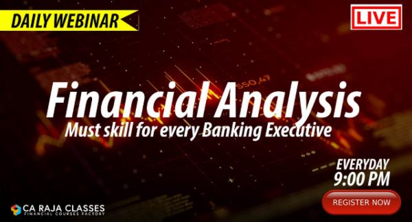 LIVE Webinar on Financial Analysis - Must skill for every Banking Executive cover