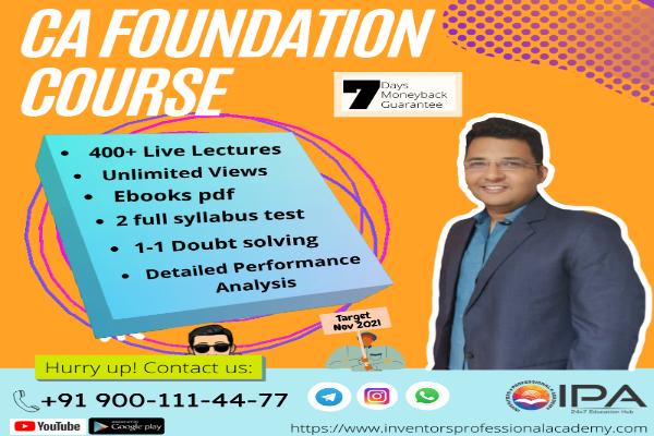 CA Foundation - Complete Course ( Nov 2021) cover