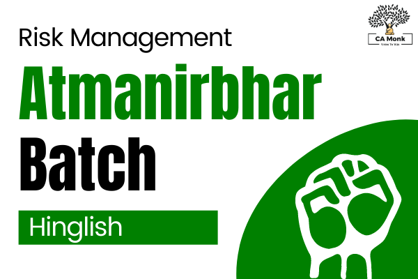 Atmanirbhar Batch for Risk Management CA Final (Revision Videos of RM + MCQ Tests) cover