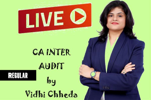 CA INTER - AUDIT - LIVE - REGULAR cover