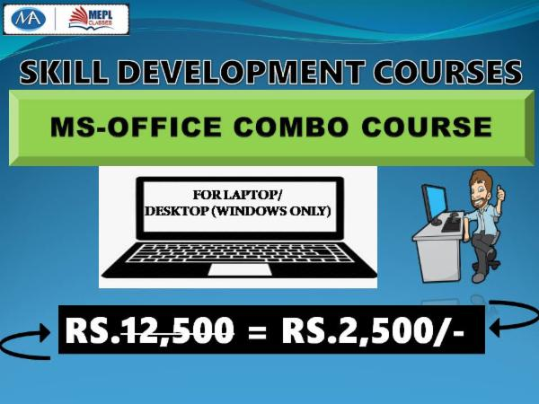 MS OFFICE COURSE(COMBO) - FOR LAPTOP/DESKTOP (WINDOWS ONLY) cover