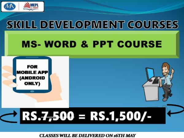 MS WORD + PPT (COMBO) - FOR LAPTOP/DESKTOP (WINDOWS ONLY) cover