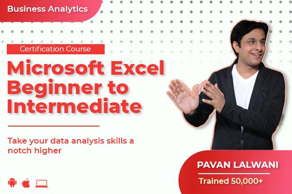 Microsoft Excel - Beginner to Intermediate cover