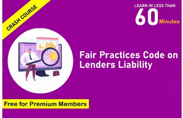 Crash Course on Fair Practices Code on Lenders Liability cover