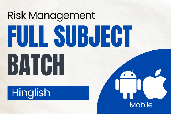 CA Final Risk Management Full Subject Course for Nov 2021 cover