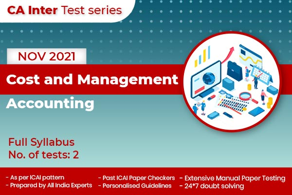 CA Inter Cost and Management Accounting Full Syllabus Test cover
