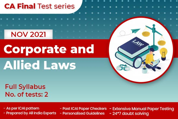CA FINAL Corporate and Allied Laws Full Syllabus Nov 2021 cover
