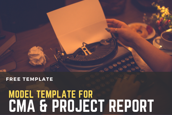 Project Report & CMA Template cover