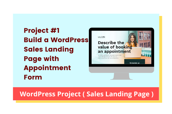 Sales Landing Page Mini Project with Elementor Pro cover