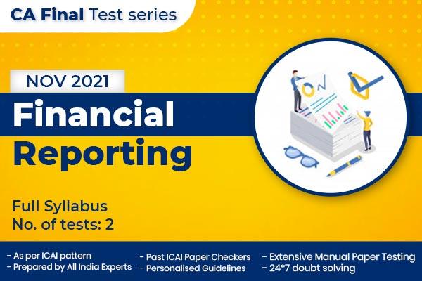 CA FINAL Financial Reporting Full Syllabus Nov 2021 cover