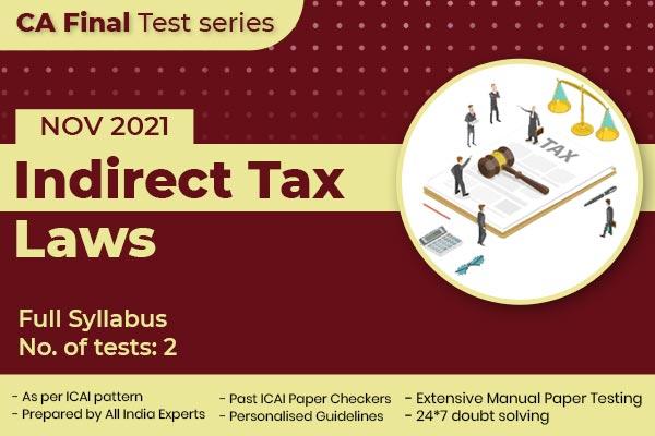 CA FINAL Indirect Tax Laws Full Syllabus Nov 2021 cover