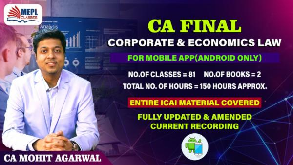 CA FINAL - CORPORATE & ECONOMICS LAW - LIVE AT HOME - FOR MOBILE APP (ANDROID ONLY) cover