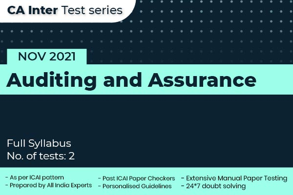 CA INTER Auditing and Assurance Full Syllabus Test cover