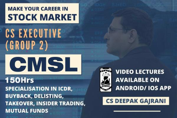 CAPITAL MARKET & SECURITY LAWS - CMSL - Android cover
