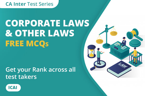 CA Inter Corporate Laws & Other Laws Free MCQs cover