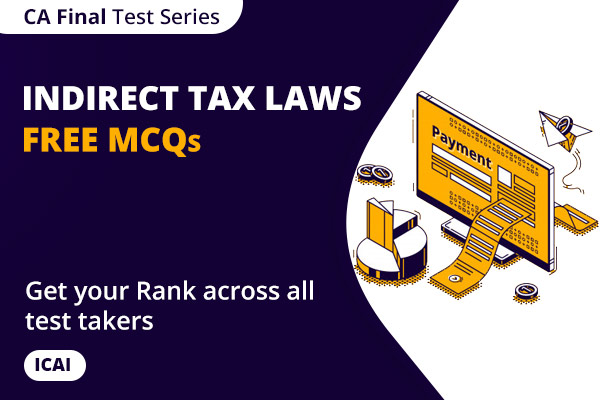 CA Final Indirect Tax Laws ICAI Free MCQs cover
