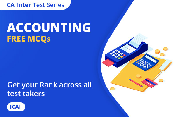 CA INTER Accounting Free MCQs cover