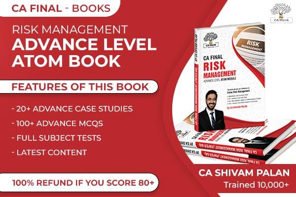 CA Final Risk Management Advance Level ATOM Book for Nov 2021 cover