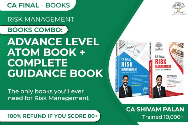 Nov 2021 Risk Management CA Final Books Combo: Advance Level ATOM Book + Complete Guidance Book cover