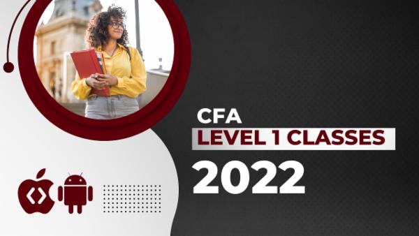 CFA Level 1 Classes 2022 - App Based Classes cover