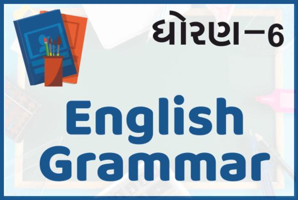 STD-6 English Grammar cover
