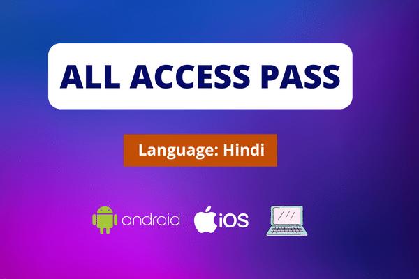 Trainonic : All Course Access Pass - Hindi cover