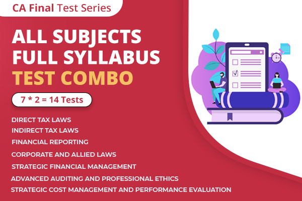 CA FINAL All Subjects Full Syllabus Test Series Nov 2021 cover