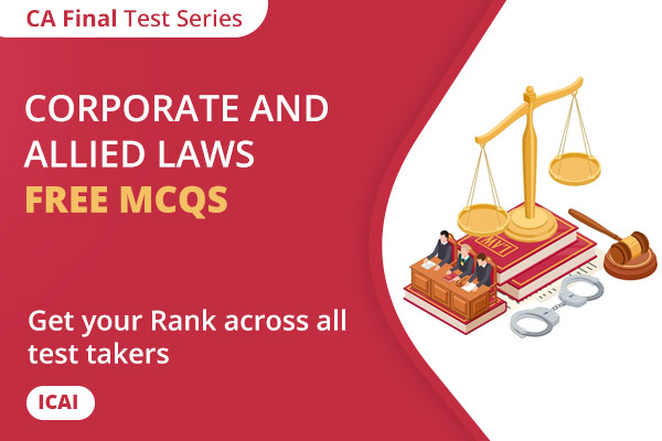 CA FINAL Corporate and Allied Laws Free MCQs cover