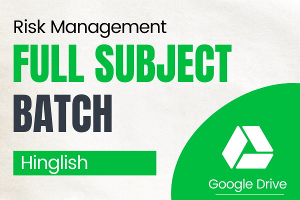 CA Final Risk Management Full Subject Course (Google Drive) for Nov 2021 cover