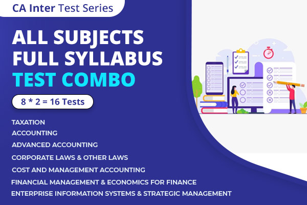 CA INTER All Subjects Full Syllabus Test Series Nov 2021 cover