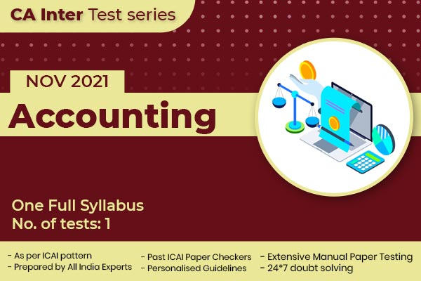 CA INTER Accounting One Full Syllabus Test cover