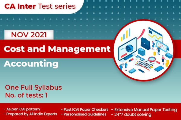 CA INTER Cost and Management Accounting One Full Syllabus Test cover