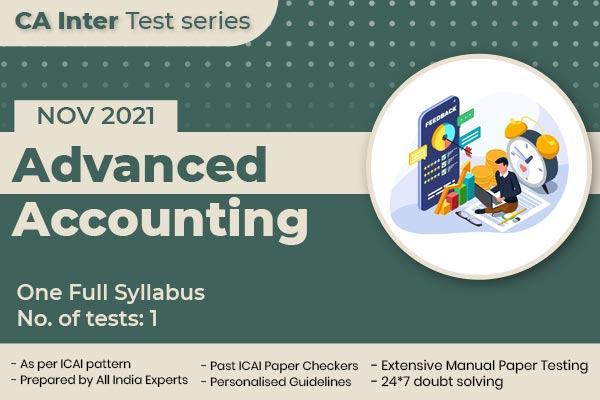 CA INTER Advanced Accounting One Full Syllabus Test cover