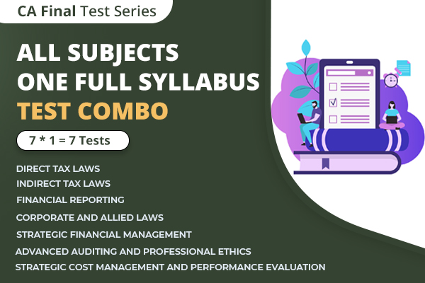 CA FINAL All Subjects One Full Syllabus Test Series Nov 2021 cover