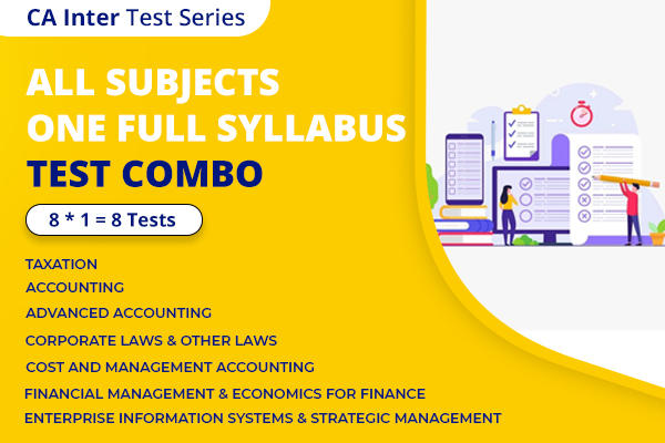 CA INTER All Subjects One Full Syllabus Test Series Nov 2021 cover