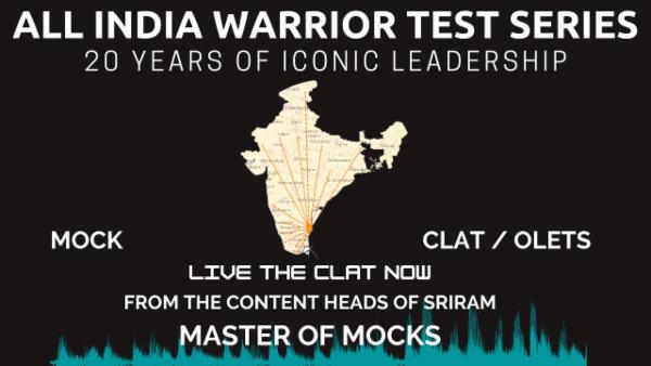 Sriram Warrior CLAT Test Series cover