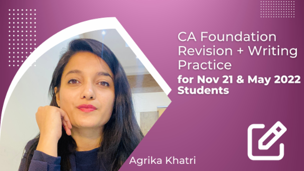 CA Foundation Revision & Writing Practice for Nov 21 & May 2022 cover