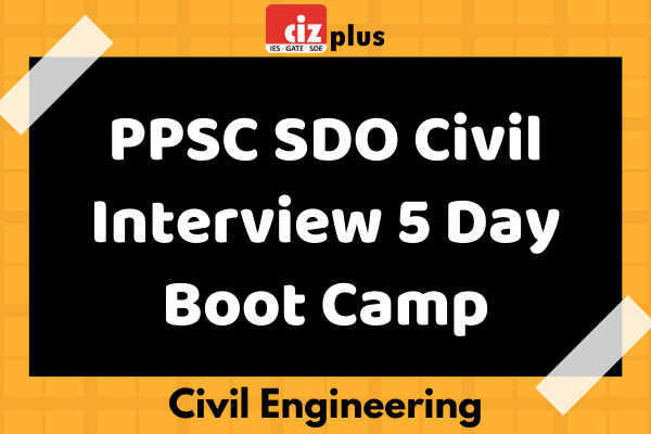 PPSC SDO Civil Interview 5 Day Boot Camp cover