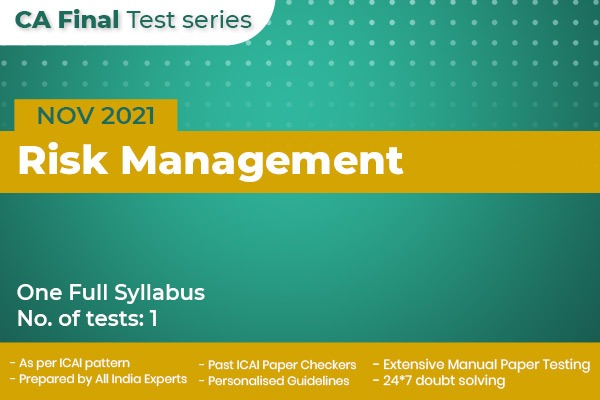 CA FINAL Risk Management Test Series cover