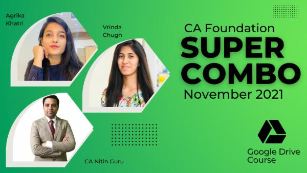 CA Foundation Nov 2021 Combo- Google Drive cover