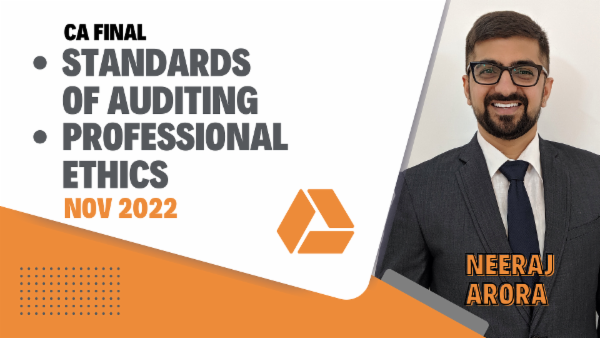 CA Final Standards of Auditing & Professional Ethics - Nov 2022- Google Drive cover
